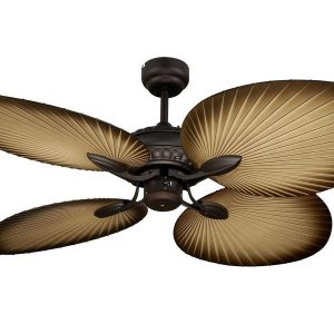 Martec Oasis Old Bronze Palm Leaf 52″ Balinese Tropical Ceiling Fan